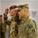 General Domrőse Attends ISAF/Resolute Support Transition Ceremony in Kabul